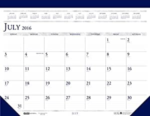 "House of Doolittle 2016 - 2017 Monthly Desk Pad Calendar, Academic, Classic, 22 x 17"" (HOD155-17)"