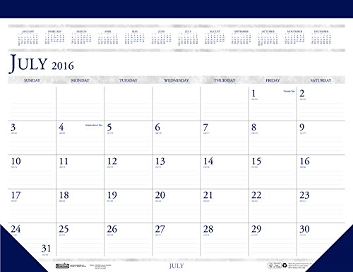House of Doolittle 2016 - 2017 Monthly Desk Pad Calendar,...