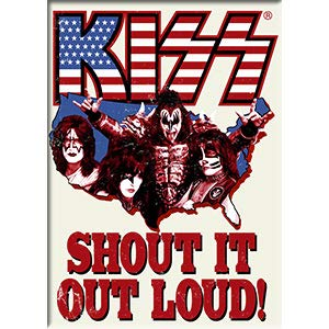 C&D Visionary KISS - Shout It Out Loud, Refrigerator Magnet, Licensed Original Artwork, 2.5