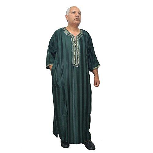 Caftan Modello Cm De Horus Raso E Egipto 69 É Marocchino Djellaba Cm Larghezza Di Lunghezza Artesanía Arabe Chilaba Cotone 140 qpzwz0R