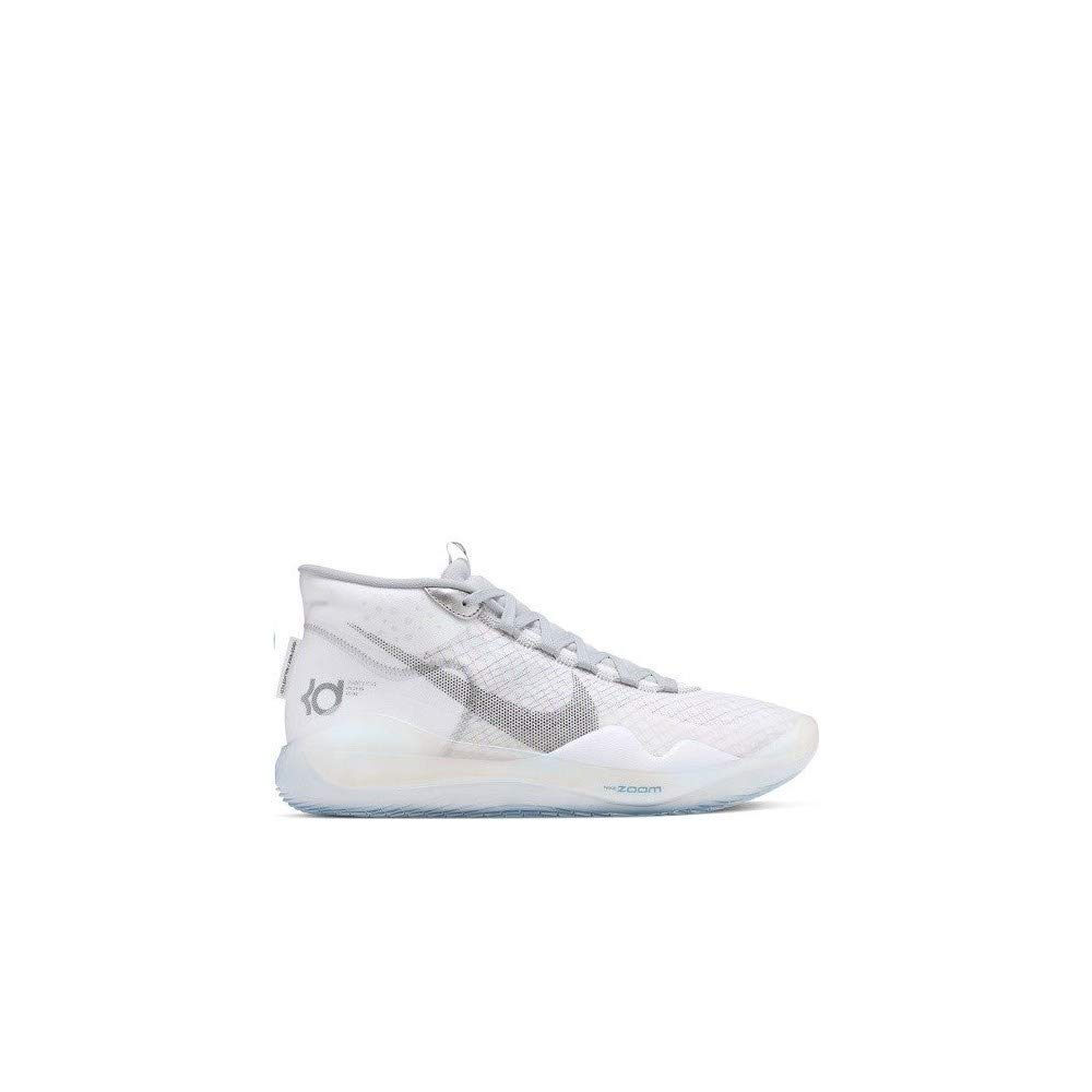 Nike Zoom KD 12 Basketball Shoes (M9/W10.5, White/Wolf Grey) by Nike