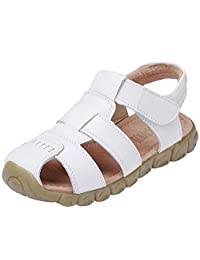 DADAWEN Boys Girls Closed Toe Outdoor Sandal (Baby boy/Toddler/Little Kid/Big Kid)