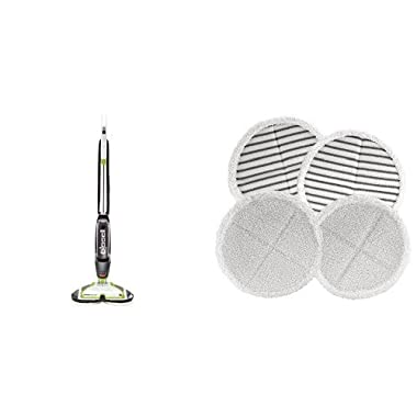 Long Lasting Performance Bundle - Bissell 2039A Spinwave Hard Floor Mop + Bissell 2124 Spinwave Mop Pad Kit Replacement Pads