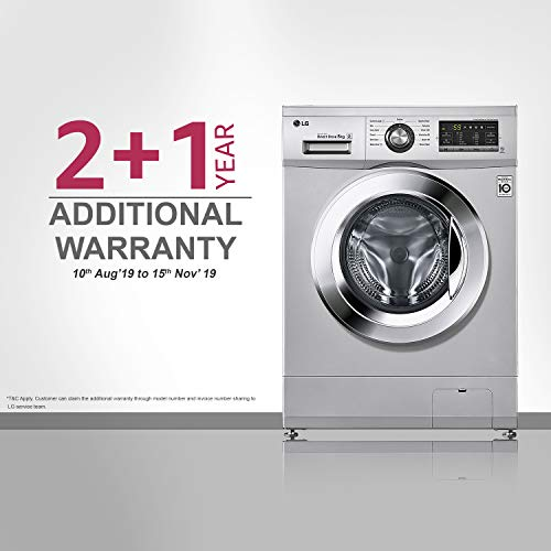 LG 8.0 kg Inverter Fully-Automatic Front Loading Washing Machine (FH2G6TDNL42, Silver)