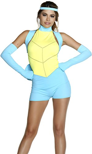 Forplay Women's Caught Up Sexy Cartoon Character Costume, Blue, S/M ()