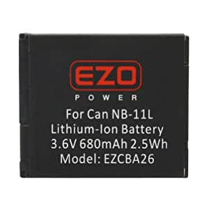 EZOPower NB-11L Battery for Canon PowerShot SX420 IS, SX410 IS, SX400 IS, A3500 IS, A3400 IS, A2600, A2500, A2400 IS, A2300 Digital Cameras
