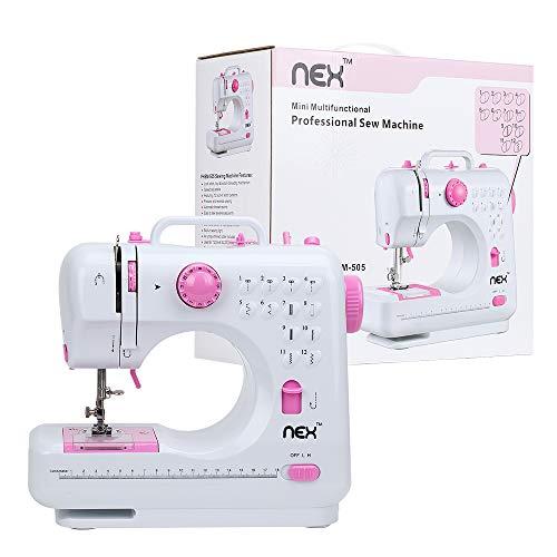 NEX Portable Sewing Machine Double Speeds for Beginner Art Craft 12 Stitches