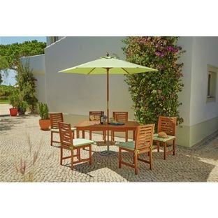 Madison Wooden 6 Seater Patio Furniture Set.