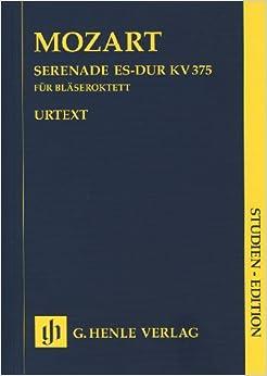 Book MOZART - Serenata (K.375) en Mib Mayor para 2 Oboes, 2 Clarinetes, 2 Trompas y 2 Fagotes (PB) (Urtext)