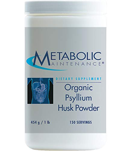 Metabolic Maintenance Organic Psyllium Husk Powder - Soluble Fiber for Digestion + Regularity Support (150 Servings / 1 lb)