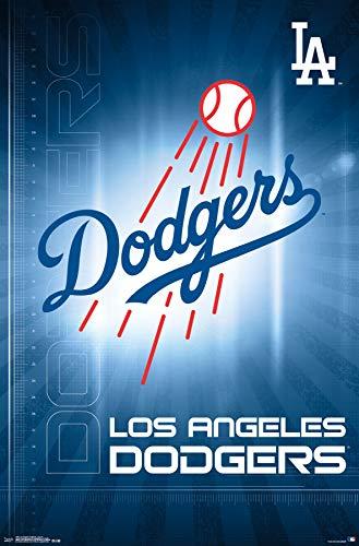 (Trends International Los Angeles Dodgers-Logo Mount Bundle Wall Poster 22.375