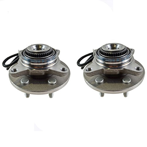 Detroit Axle - Both (2) Front Wheel Hub and Bearing Assembly Driver and Passenger Side - 4x4 w/ABS 6 Stud; from 11/29/04-2005-2008 Ford F-150 4x4 - [2006-2008 Lincoln Mark - Wheel Stud 4