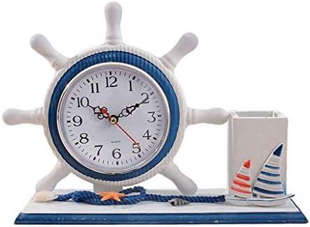 N\A FFLJT Stifthalter Uhr Uhr Nach Hause Desktop-Uhr Wohnzimmer Dekoration Personalisierte Mode
