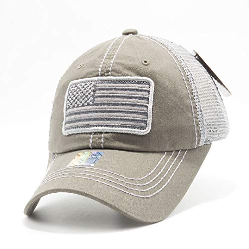 - Honor Country USA American Flag Baseball Cap Black - Grey