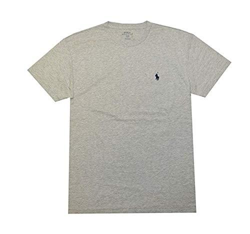 bb9a68e8 Galleon - Polo Ralph Lauren Men Classic Fit Crew Neck Pony Logo T-Shirt (L,  New Grey Heather)