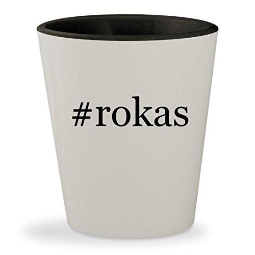 #rokas - Hashtag White Outer & Black Inner Ceramic 1.5oz Shot - Roka Group
