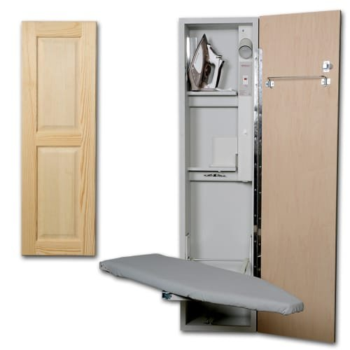 Universal Ironing Center Color (Door Style): Raised Pine Panel, Door Hinge: Right by Iron-A-Way LLC