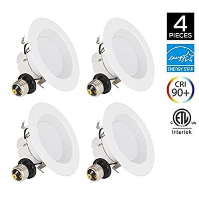 JJC Recessed Lighting 6 Inch/4 Inch LED Dimmable Downlight Energy Saving Ceiling Lights Energy Star Certified&ETL-Listed