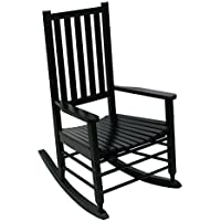 Hinkle Chair Company Alexander Mid-Sized Adult Rocking Chair, Black