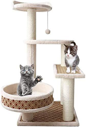 FTFDTMY Mehrschichtige Katzensprungplattform, kleines massives Holz Einteiliges Katzenspielzeug Schlafzimmer Kratzbaum…