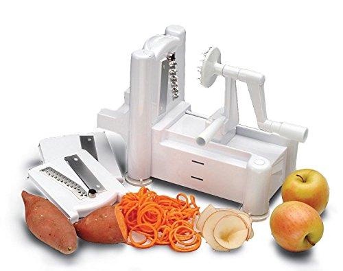 New Spiral Vegetable Slicer Spiralizer Veggie Pasta Maker Fruit Chopper Shredder