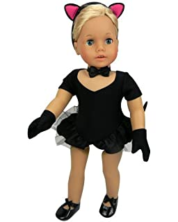 Amazon.com: American Girl Kitty Cat Costume - JLY- DOLL IS NOT ...