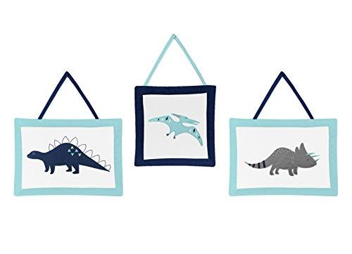 Sweet Jojo Designs Wall Hanging Decor Accessories for Blue and Green Modern Dinosaur (Designs Wall Hanging Jojo)