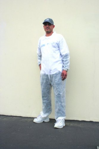Disposable Coverall w/ Collar Large Case Pack 25 by Leadoff