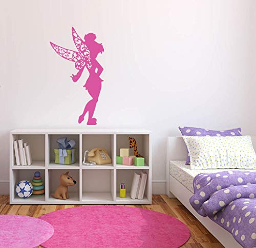 Mildred Rob Wall Decal Sticker Bedroom Tinkerbell Fairy Magic Wings Forest Cute Kids Girls Nursery Boys Teenager -