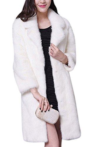 Notched Collar Shearling Coat - 7