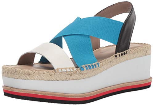 Donald J Pliner Women's AUDREY-01A Wedge Sandal Off White/Azul 8.5 B US ()
