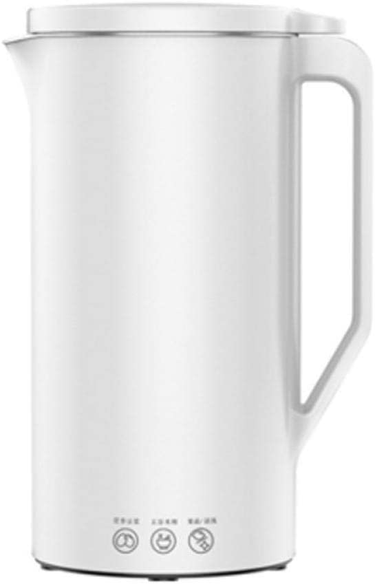 Mini Portable Automatic Soymilk Maker with110V Plug Multi-Function Hot Soy Milk Juicer Blender Maker for Breakfast Drink-White