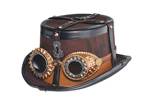 Amscan 845555 Steampunk Top Hat Deluxe, Black, One Size -