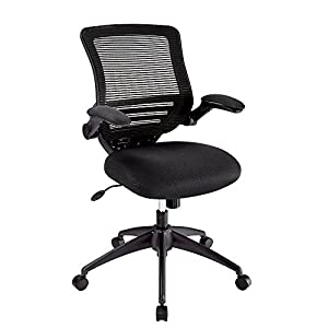 Realspace(R) Calusa Mesh Mid Back Chair, Black