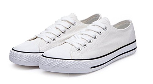 Trainers Ups Casual Amint Shoes for Sneaker Low Fashion Cut Women Unisex Men Shoes and White Sports Canvas Lace qq4w87A
