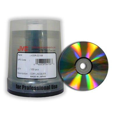 JVC Taiyo Yuden 100 52X CDR CD-R 80min 700MB Shiny Silver in Cake Box