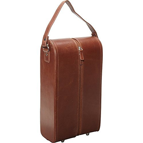 AmeriLeather Leather Double Wine Case Holder (Leather Wine Holder)
