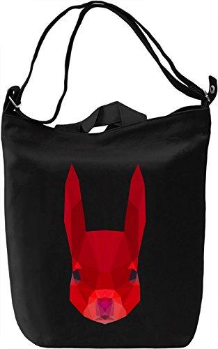 Red squirrel head Borsa Giornaliera Canvas Canvas Day Bag| 100% Premium Cotton Canvas| DTG Printing|