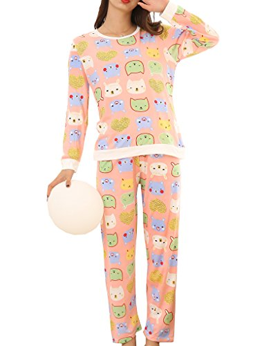 YUEXIN Big Girls Casual Nightgown Pajama Set Lovely hearts Shape Bear - Heart Lovely