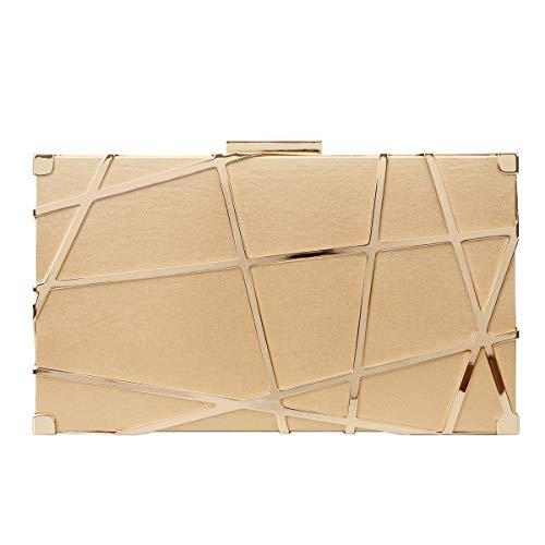 - Fawziya Metallic Clutch Purses For Women Evening Clutches-Gold