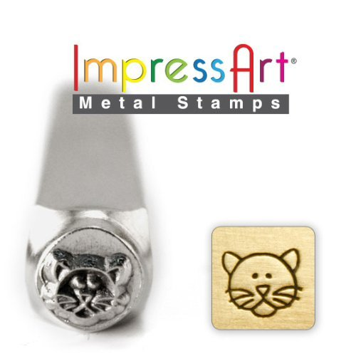 ImpressArt- 6mm, Cat Face Design Stamp by ImpressArt Metal (Cat Face Design)