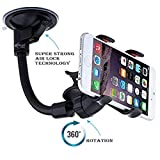 Marionne Car Mobile Holder for Xiaomi Mi Max 2 Navigator Soft-Tube Car Mobile Holder Stand | Premium 360 ° Degree Rotable Mobile Phone & GPS Device Holder For Desk Mount | Car Windshield | Car Dashboard | Working Desks | Best Quality Mobile Stand | Premium Touch One Adjustable Car Mobile Holder - Black