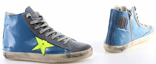 Fluo Scarpe Yellow Star Goose Uomo Golden Sky Nuove Sneakers Blu Pelle Francy qUAy0