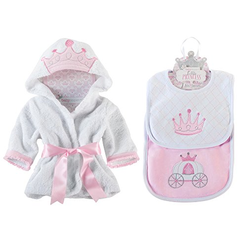 Baby Aspen Princess Bundle of Princess Robe and Princess Bibs 0-9 Months