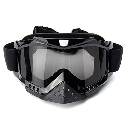- Hitommy Motorcycle Motocross Windproof Goggles Anti-UV Glasses Dustproof Anti-Scratch Lens - Black