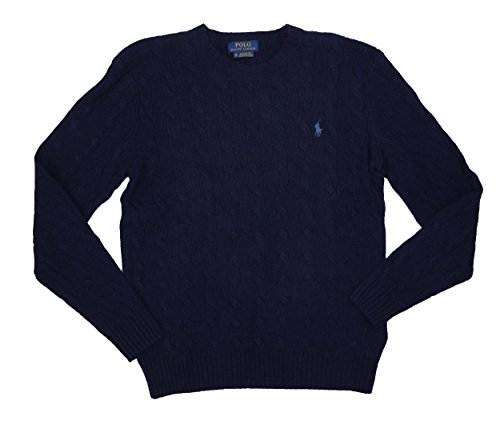 rino Wool & Cashmere Cable Knit Pullover Sweater (Hunter Navy, X-Small) ()