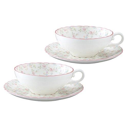 Bone china tea Cutie Rose porcelain bowl plate pair set P58043A/9940 (japan import)