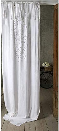 Blanc Mariclo – Cortina Long Aura Blanca 140 x 290 cm de algodón ...