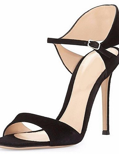 ShangYi Women's Shoes Leatherette Stiletto Heel Open Toe Sandals Office  Career / Party  Evening / Dress Silver
