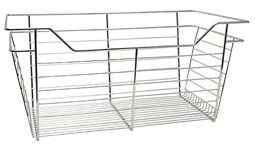 Hafele Closet Wire Drawer Basket 29 x 11 x 14 Chrome